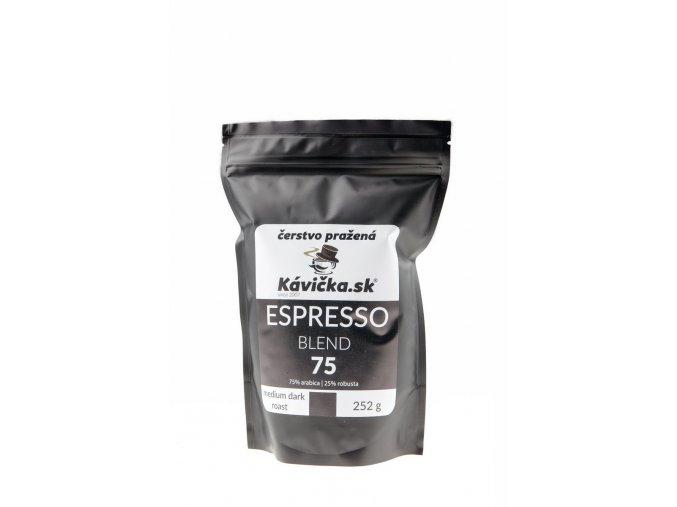 čerstvo pražená káva 250g Espresso Blend 75