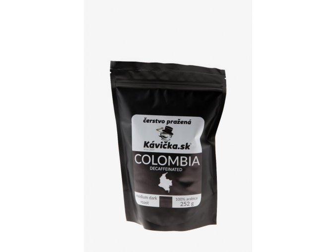 čerstvo pražená káva 250g Colombia Decaffeinated