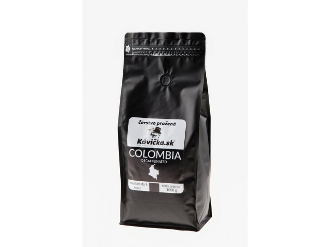 čerstvo pražená káva Colombia Decaffeinated 1kg