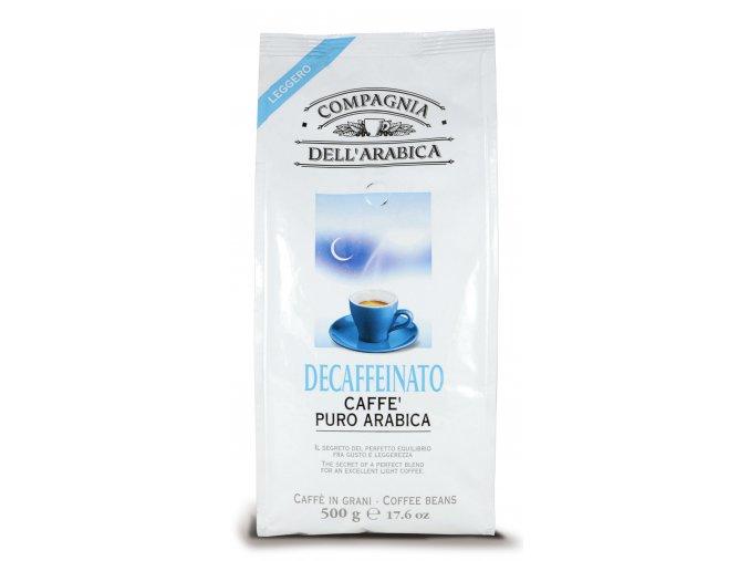 COMPAGNIA DELL ARABICA Decaffeinato zrnková káva 500g
