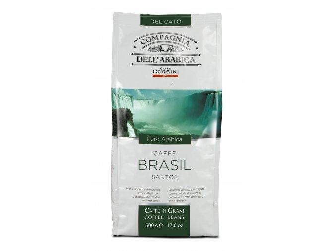 COMPAGNIA DELL ARABICA Brasil Santos zrnková káva 500g