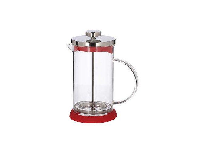 french press zaparzacz do kawy tlokowy szklany peterhof mix 0 6 l red