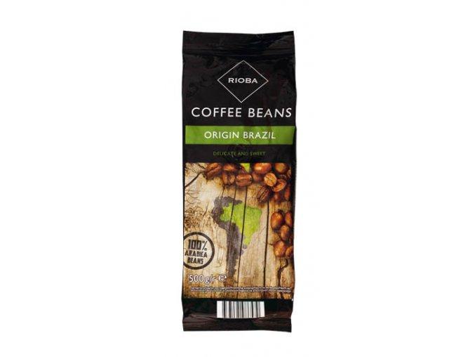 Rioba 100% Brazil zrnková káva 500 g