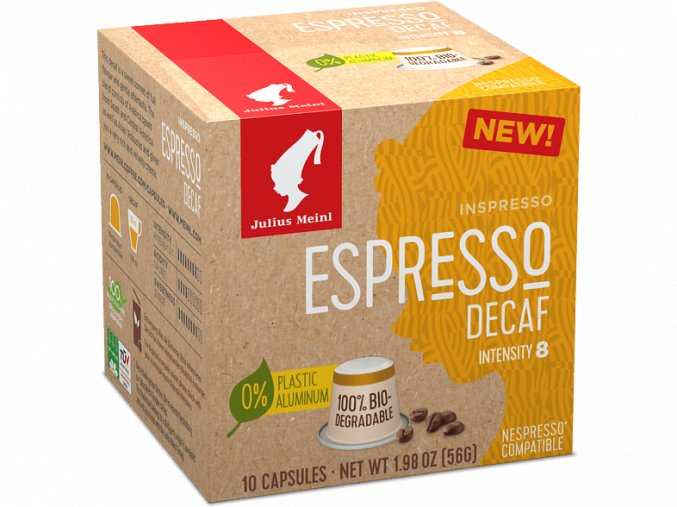 JULIUS MEINL Inspresso Espresso Decaf pre Nespresso 10x5,6g biologicky rozlozitelne1