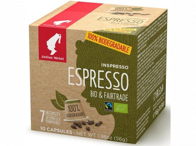 JULIUS MEINL Inspresso Espresso Bio Fairtrade pre Nespresso 10x5,6g biologicky rozlozitelne