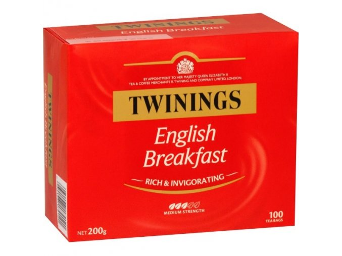 TWININGS of London English Breakfast 100 x 2 g