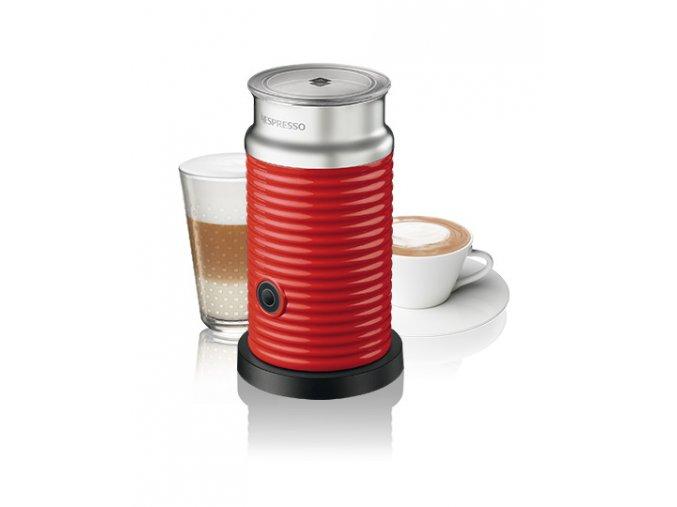Aeroccino (napeňovač) červený