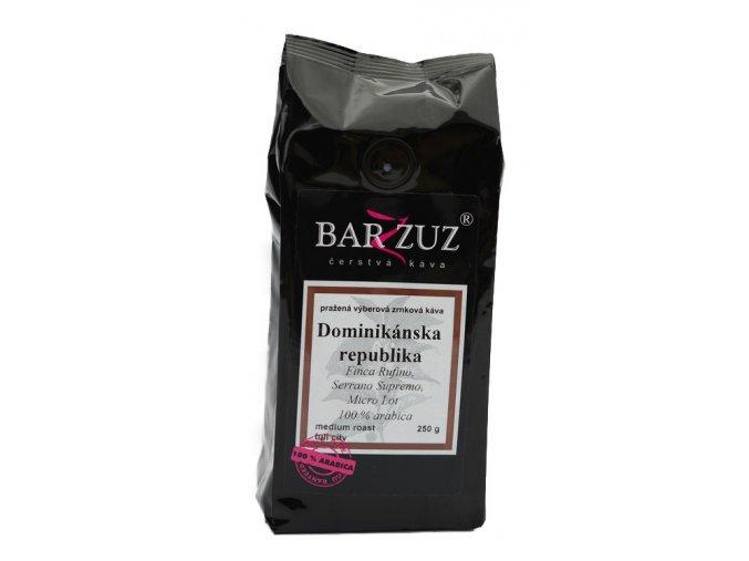 BARZZUZ Dominikánska republika zrnková káva 250g