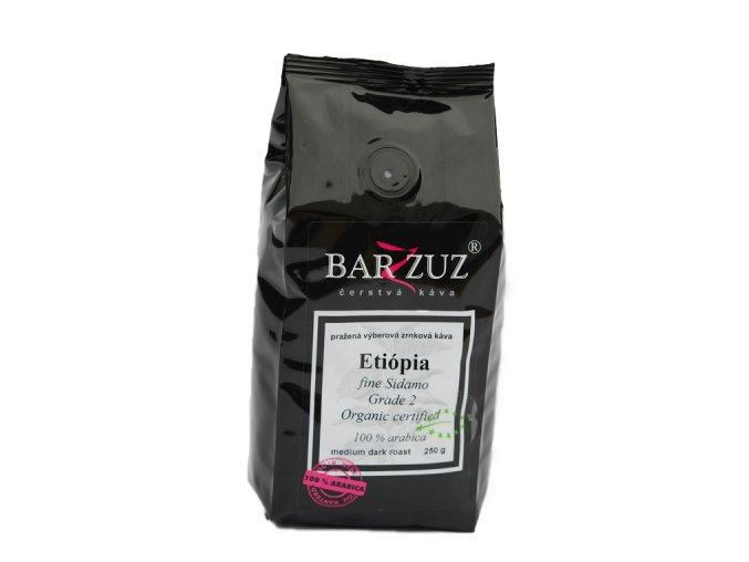 BARZZUZ Etiópia Sidamo Grade 2 zrnková káva 250g