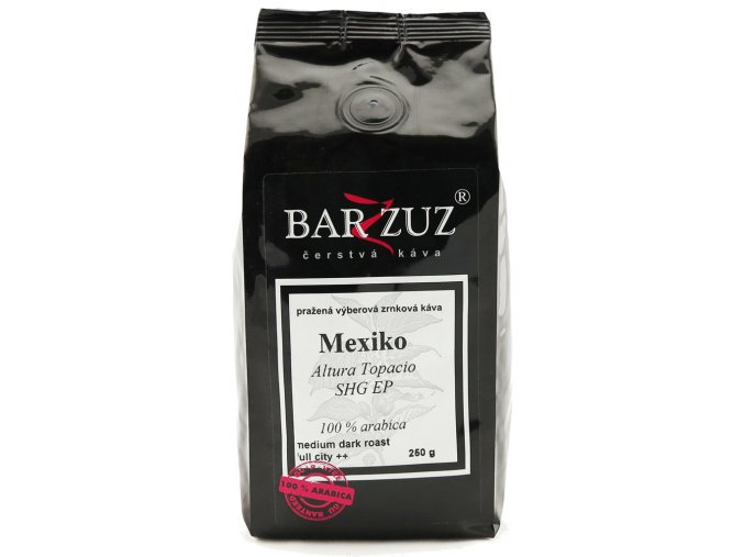 BARZZUZ Mexiko, zrnková 250g