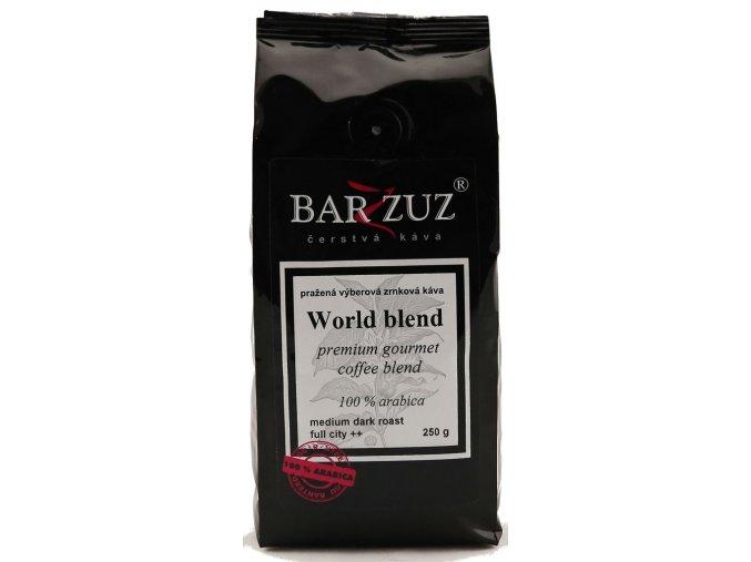 BARZZUZ World Blend zrnková káva 250g