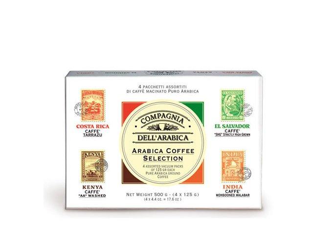 COMPAGNIA DELL ARABICA Caffé Selection mletá káva 4x125g