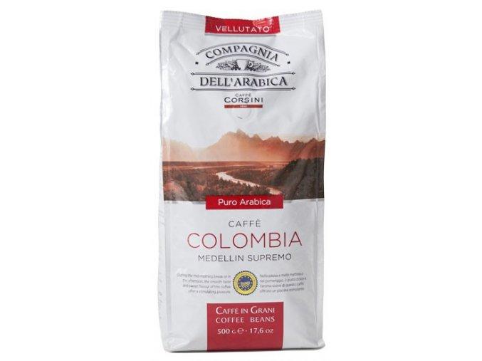 CORSINI COMPAGNIA DELL ARABICA Colombia Medellin Supremo zrnková káva 500g