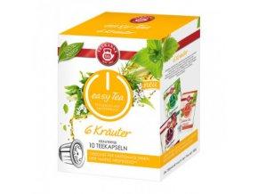 Čaj kapsule TEEKANNE zmes 6 bylín