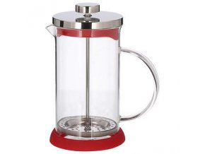 french press zaparzacz do kawy tlokowy szklany peterhof mix 0 6 l red