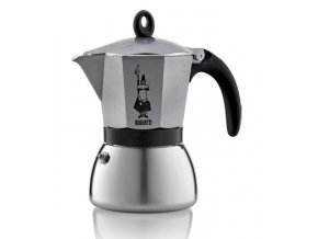 BIALETTI Moka Induction Antracite 6 porcií