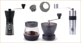 Manuálne mlynčeky na kávu