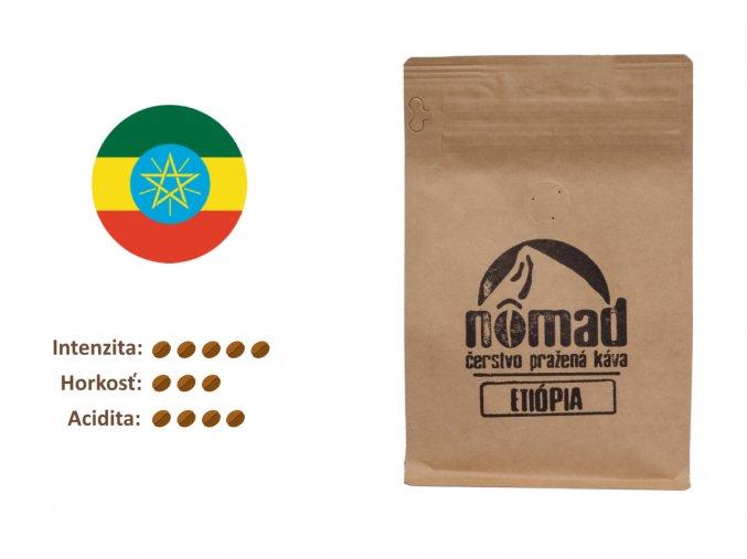 Pražená káva Etiópia