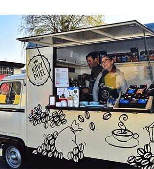 Piteltruck® – naše mobilní kavárna Kávy pitel Kutná Hora
