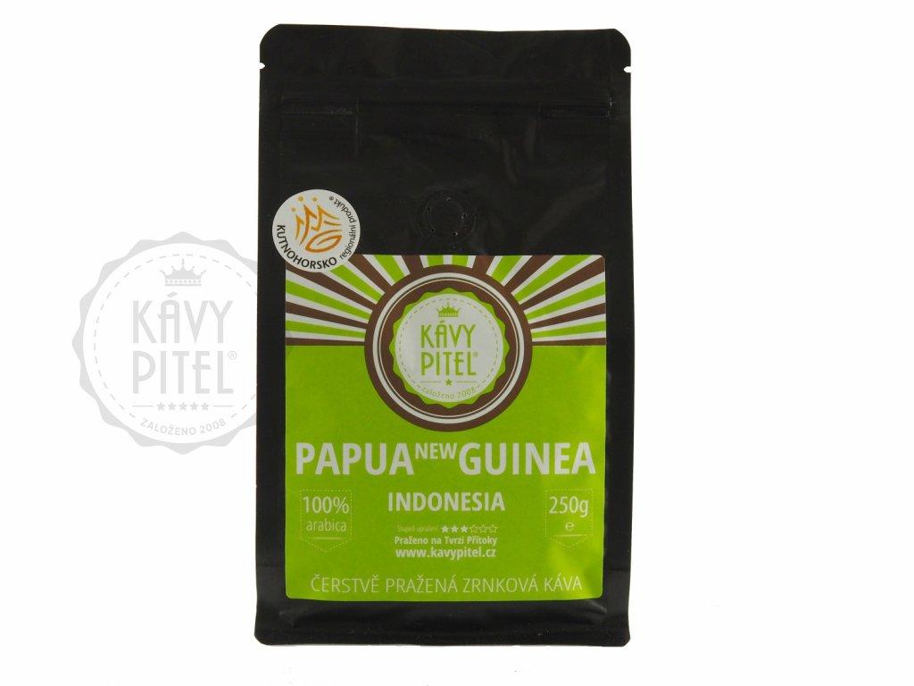 papua nova guinea zrnkova kava kavy pitel 250g