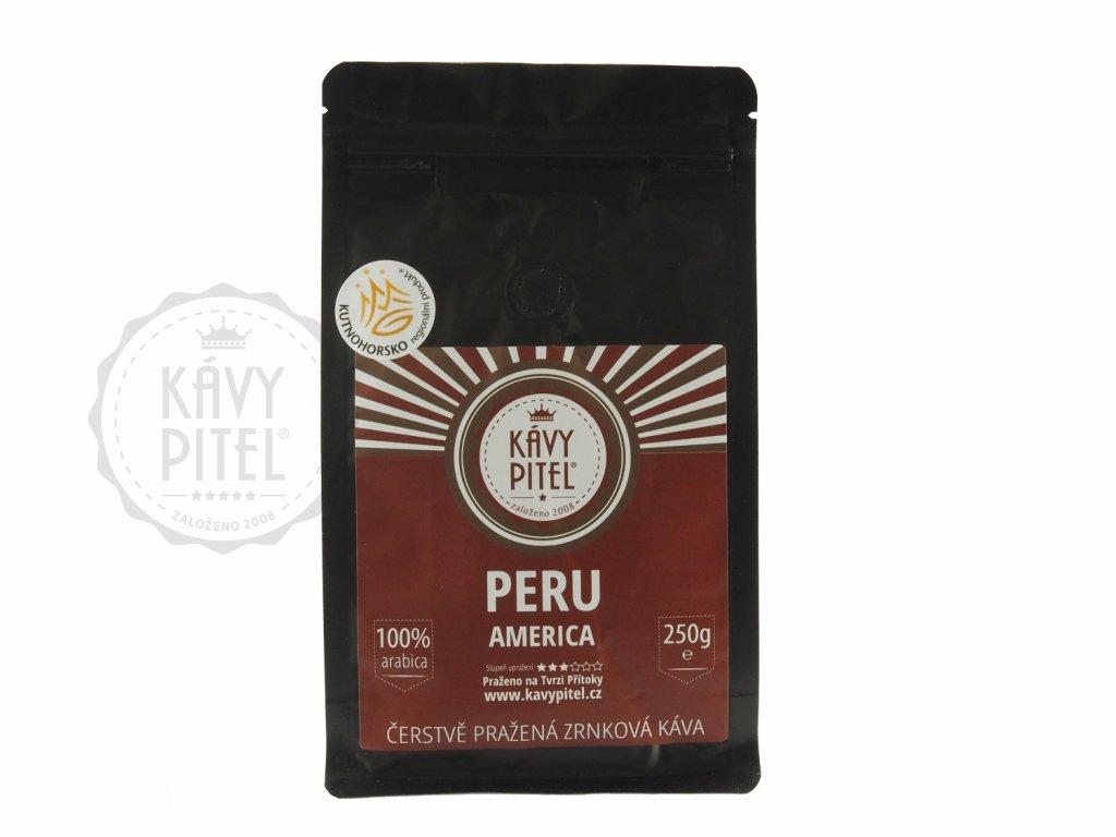 peru zrnkova kava kavy pitel 250g