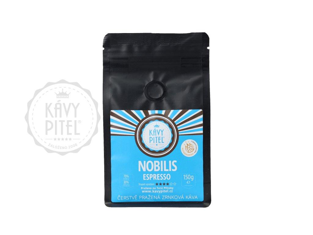 nobilis zrnkova kava kavy pitel 150g