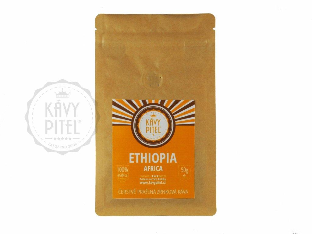 ethiopia etiopie zrnkova kava kavy pitel 50g