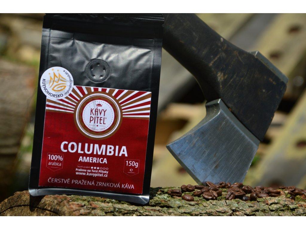 columbie kava prazena kavy pitel