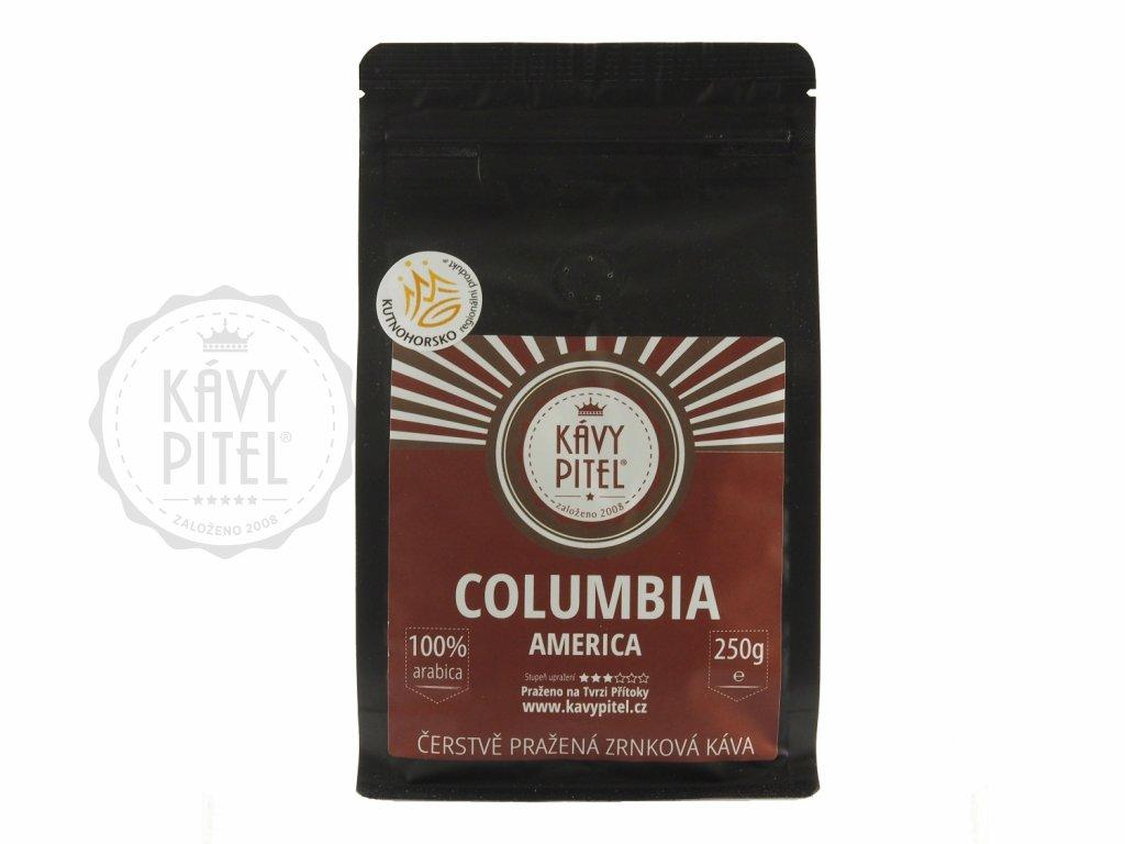 columbia kolumbie zrnkova kava kavy pitel 250g