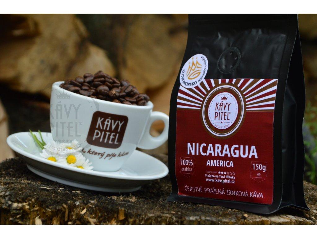 nicaragua kava prazena kavy pitel