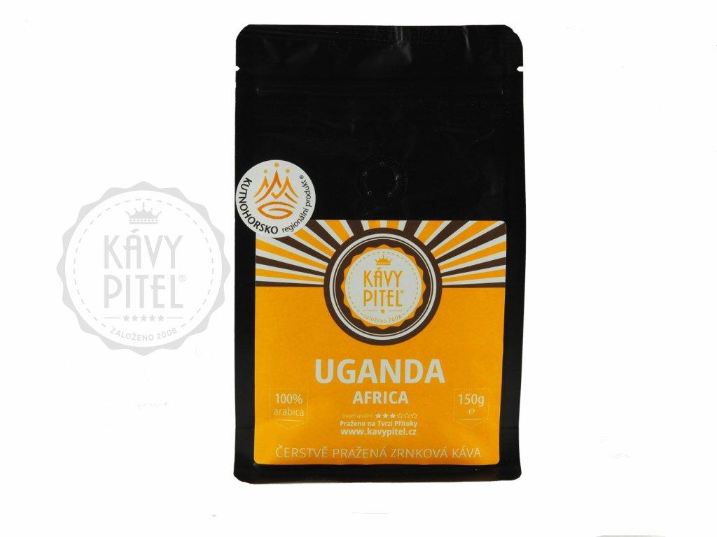 Uganda zrnkova kava kavy pitel 150g