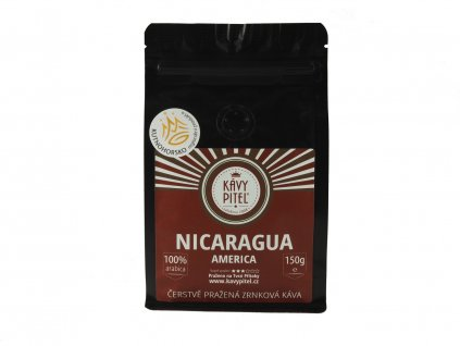 nicaragua nikaragua zrnkova kava kavy pitel 150g