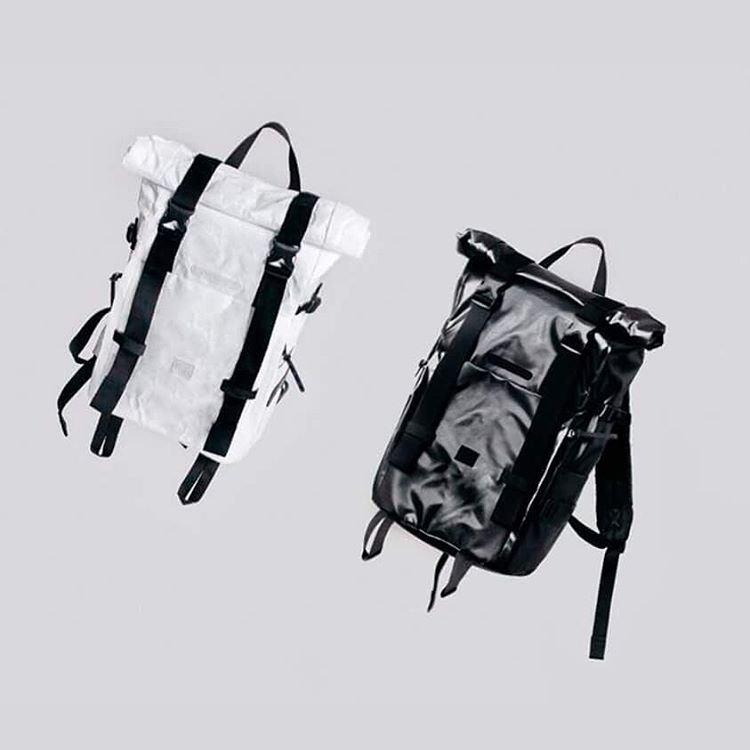 Stylové batohy, černá, bílá, velký prostorný nepromokavý