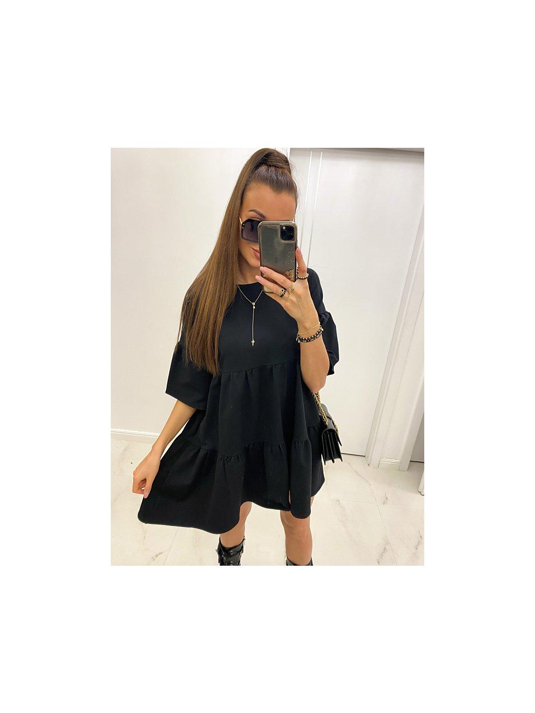 čierne oversize šaty