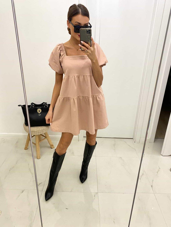 ružové oversize šaty
