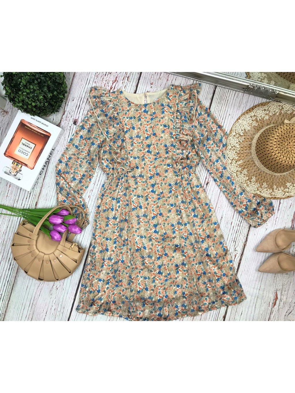 kvetinové šaty s volánom