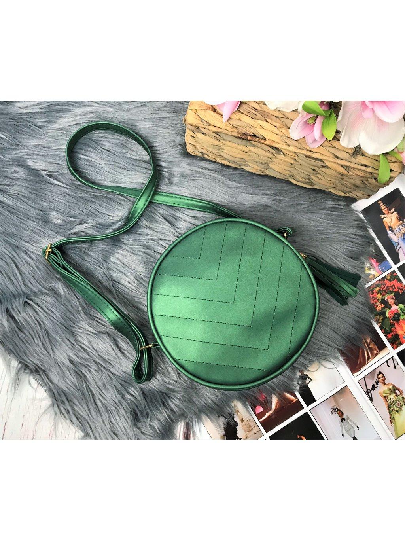 Zelená okrúhla kabelka
