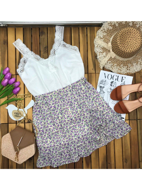 kvetinová sukňa