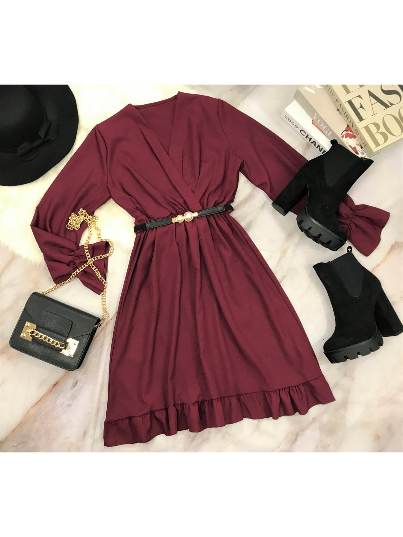 bordové šaty