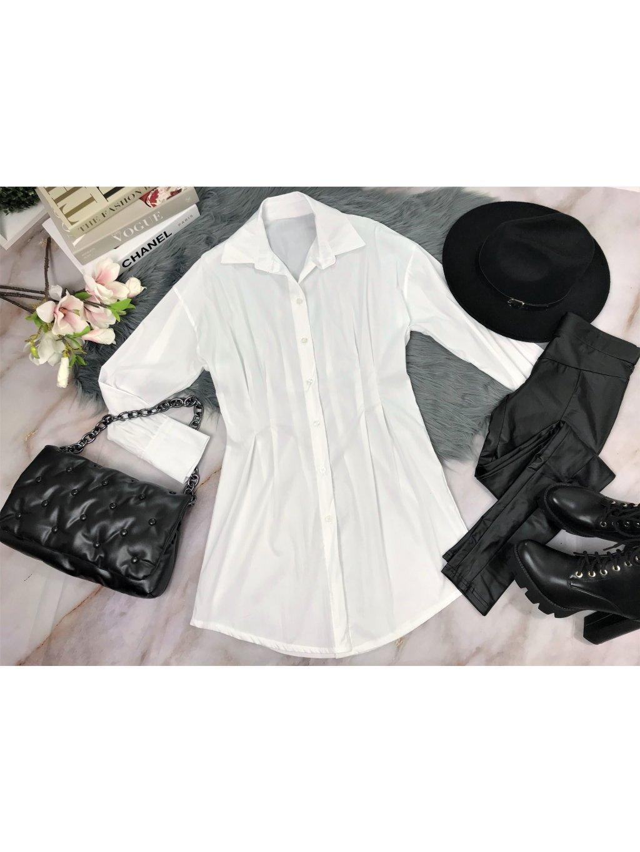 biela dlhšia košeľa
