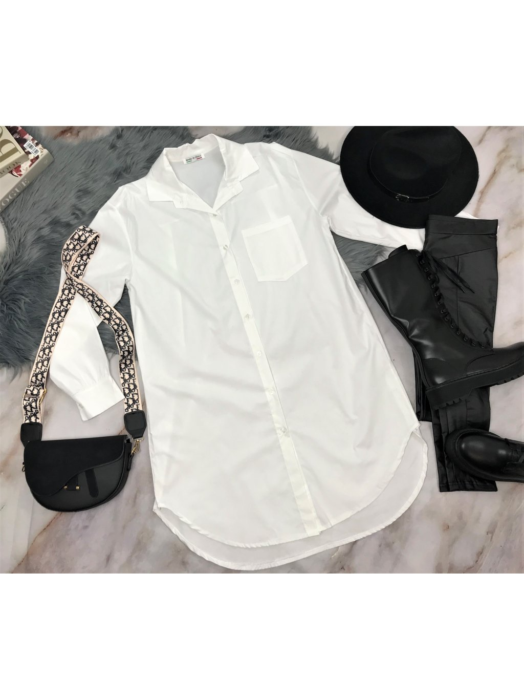 biela maxi košeľa