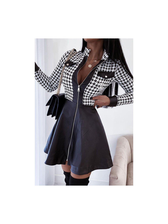pepito šaty s koženkou