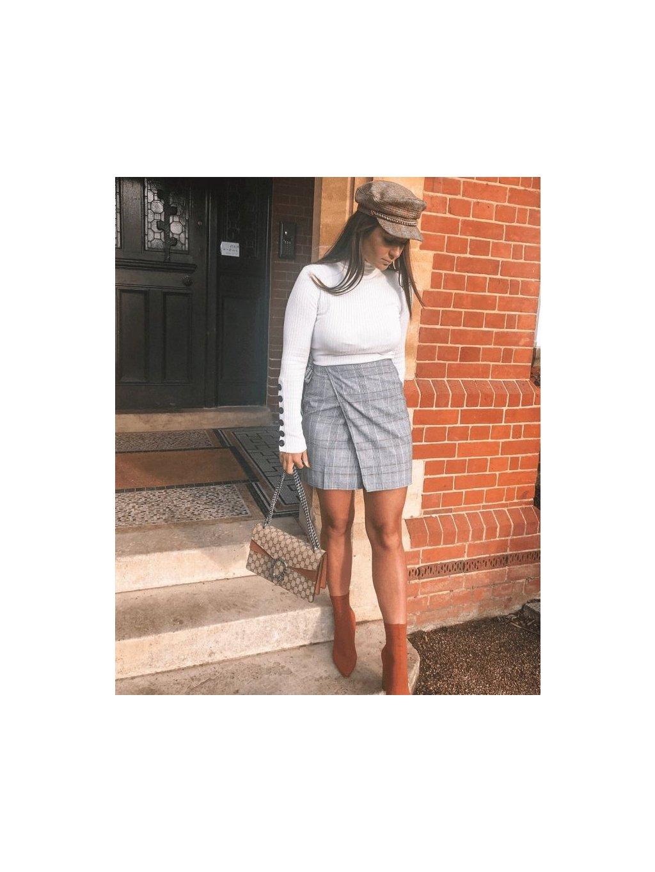 check wrap over side tie skirt p6065 204884 medium