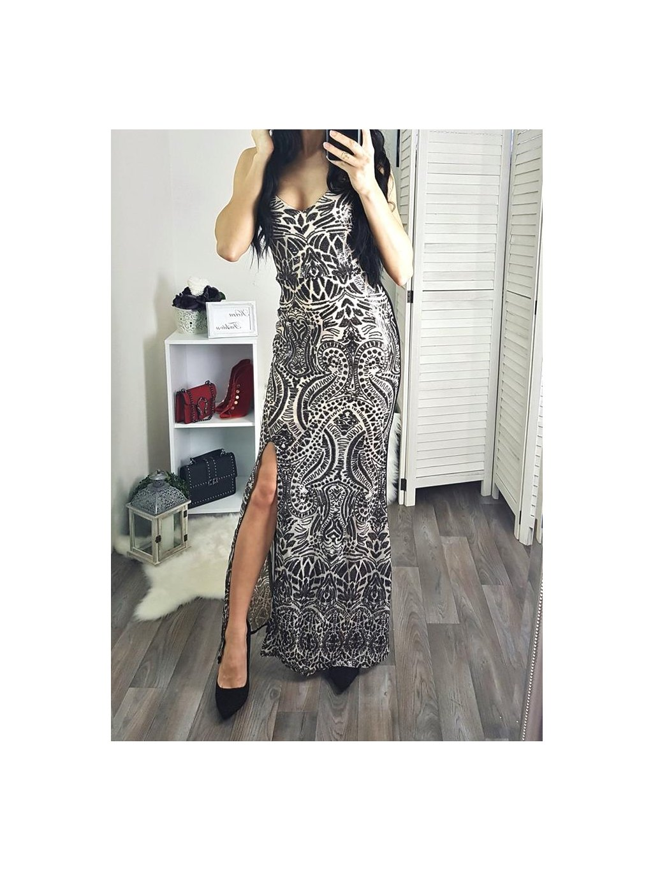šaty s flitrami