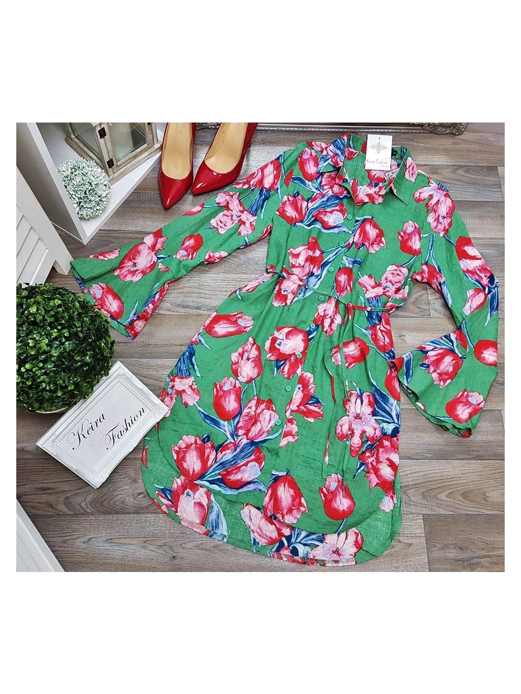 šaty s tulipánmi