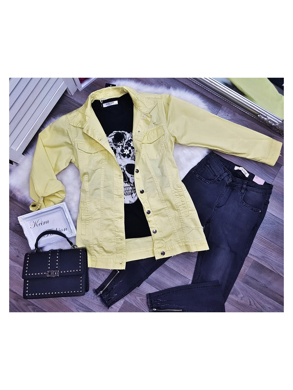 žltá riflová bunda