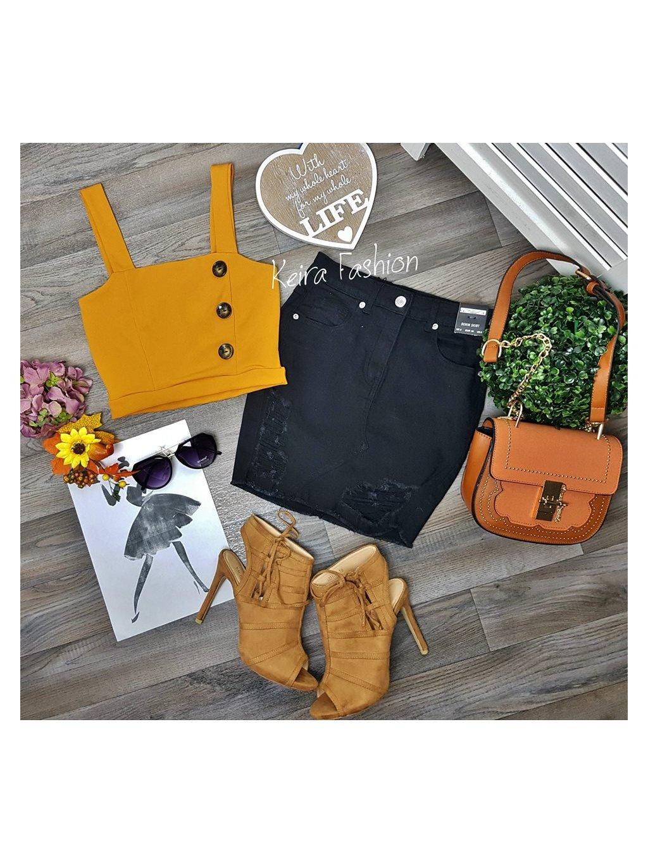 žltý crop top