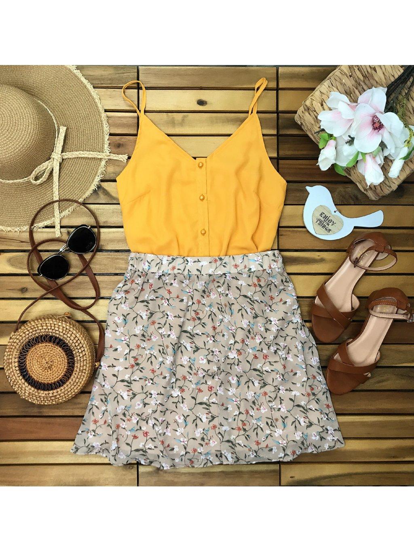 šifónová kvetovaná sukňa