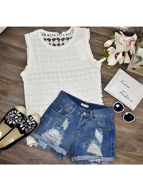 bielé bavlnené tričko