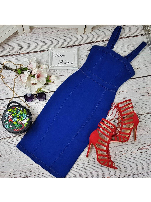 riflové šaty na ramienka